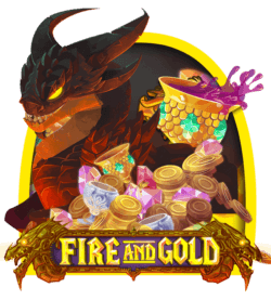 Fire and Gold online slots at Dr Slot online casino
